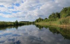 Piława wypływająca z jeziora Pile