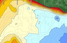 Jezioro Wilczkowo - fragment mapy batymetrycznej na echosondy Lowrance