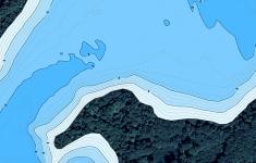 Mapa batymetryczna jeziora Wilczkowo dostosowana do wyświetlania na urządzeniach mobilnych