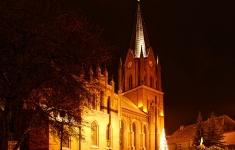 Połczyński kościół nocą