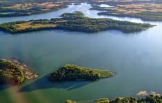 Wyspy: Bielawa i Borowa na jeziorze Drawsko