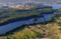 Zatoka Siemczyńska na jeziorze Drawsko