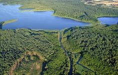 Drawa przepływająca w pobliżu jeziora Wilczkowo