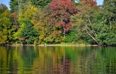 Schyłek lata nad jeziorem Lubie