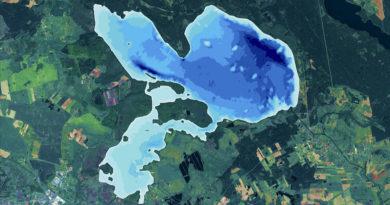 Pomiary batymetryczne jeziora Wielimie